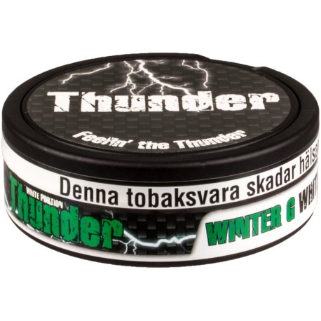 Thunder Extra Strong Wintergreen White Portion Snus