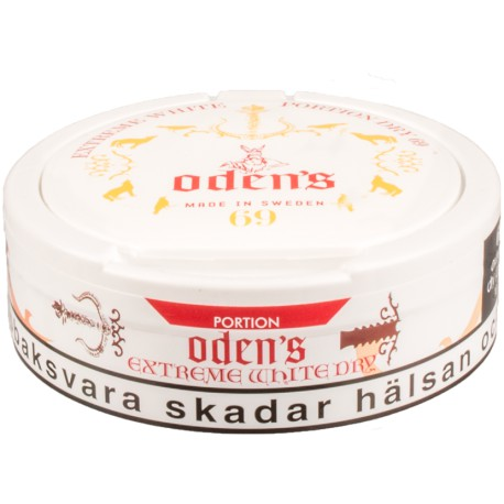 Oden's 69 Extreme White Dry Portion Snus