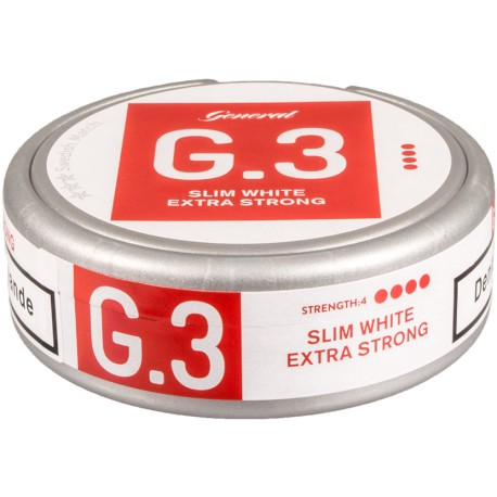 General G.3 Extra Strong Slim White Portion Snus