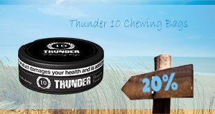 20% off on whole rolls of Thunder 10 Chewing Bags!