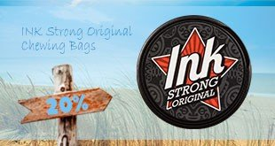 20% off on INK Strong Original Chewing Bags!