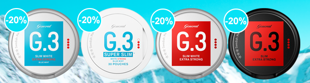 Save 20% on whole rolls of premium snus from Swedish Match!