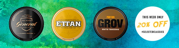 Save 20% on whole rolls of General Portion, Grov Portion and Ettan Portion!