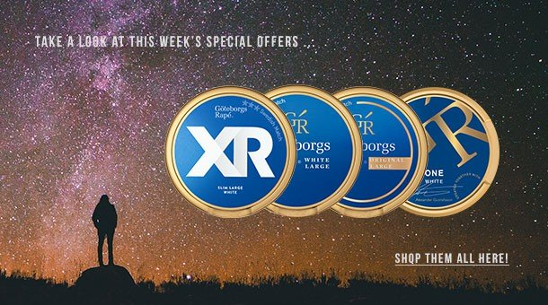 Your weekly special offer on selected premium snus!