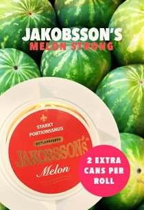 Jakobsson's Melon Strong - buy 10 get 2 extra cans for free!