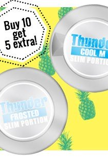 Thunder Slim Original, buy 10 cans - get 5 extra for free!