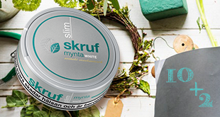 Skruf Slim Mynta White - Buy 12 cans for the price of only 10!