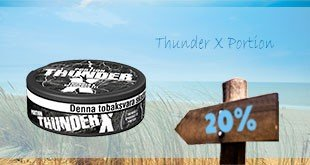 20% off on whole rolls of Thunder X Portion!