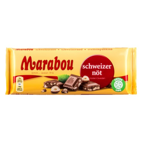 Marabou Chocolate Bar - Swiss Nut 100g