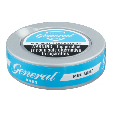 General White Dry Mini Mint Portion Snus