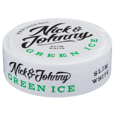 Nick & Johnny Green Ice Slim White Portion Snus