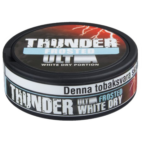 Thunder Ultra Strong Frosted White Dry Portion Snus