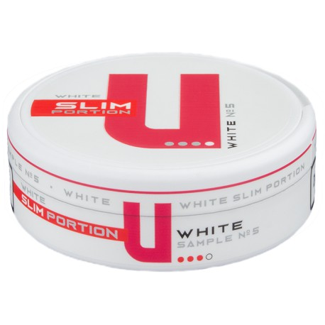 U Sample No.5 Original Slim White Portion
