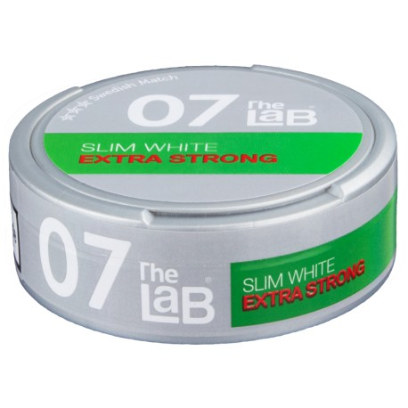 The LAB 07 Slim Extra Strong White Portion Snus