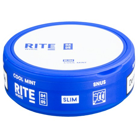 RITE Cool Mint White Slim Portion Snus