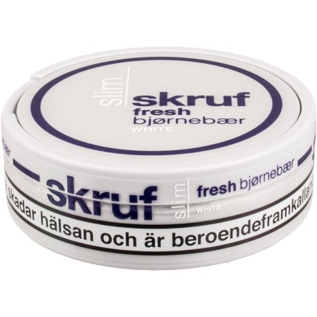 Skruf Slim Fresh Blackberry White Portion Snus