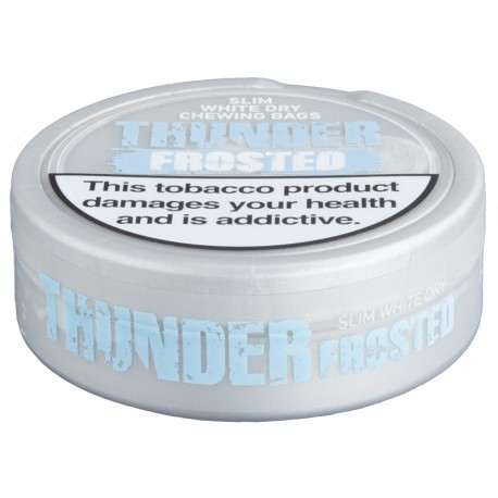 Thunder Frosted Slim White Dry Chewing Bags