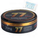 77 Classic Tobacco Extra Strong Slim Nicotine Pouches