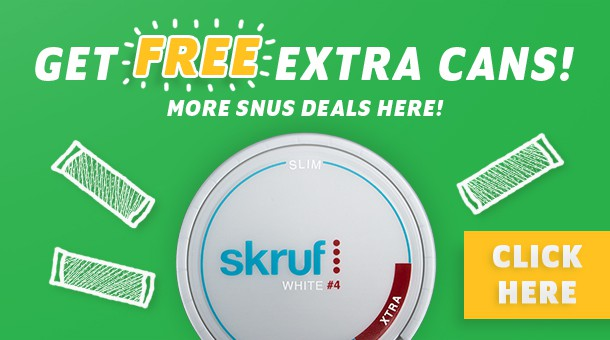 Skruf snus on sale!