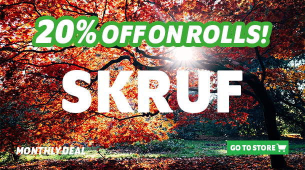 Monthly deal, 20% on rolls!